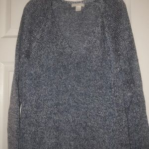 Blue and white knit v-neck sweater-never worn
